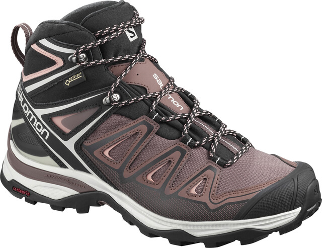 Salomon X Ultra 3 Mid GTX Shoes Women peppercornblackcoral almond